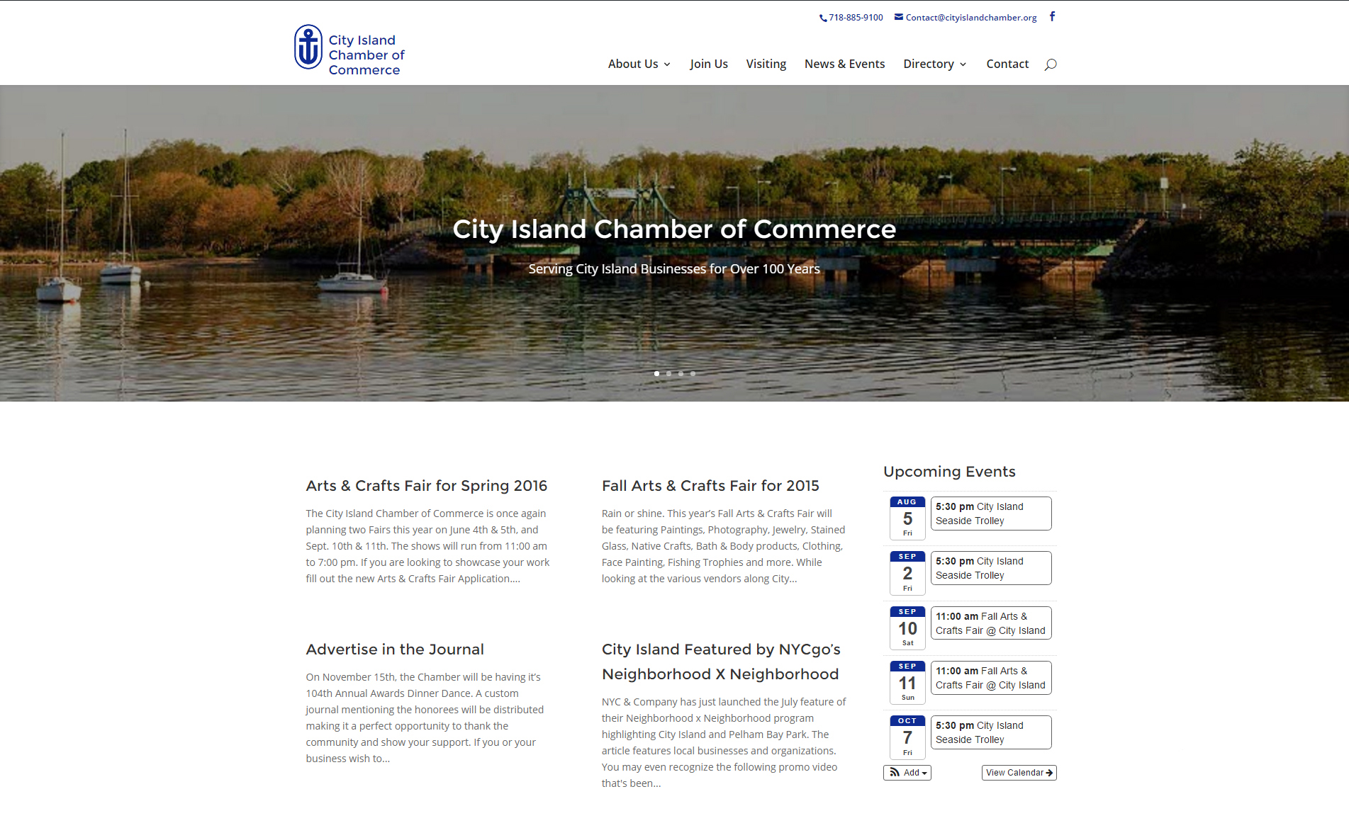 City Island Chamber of Commerce Web Design