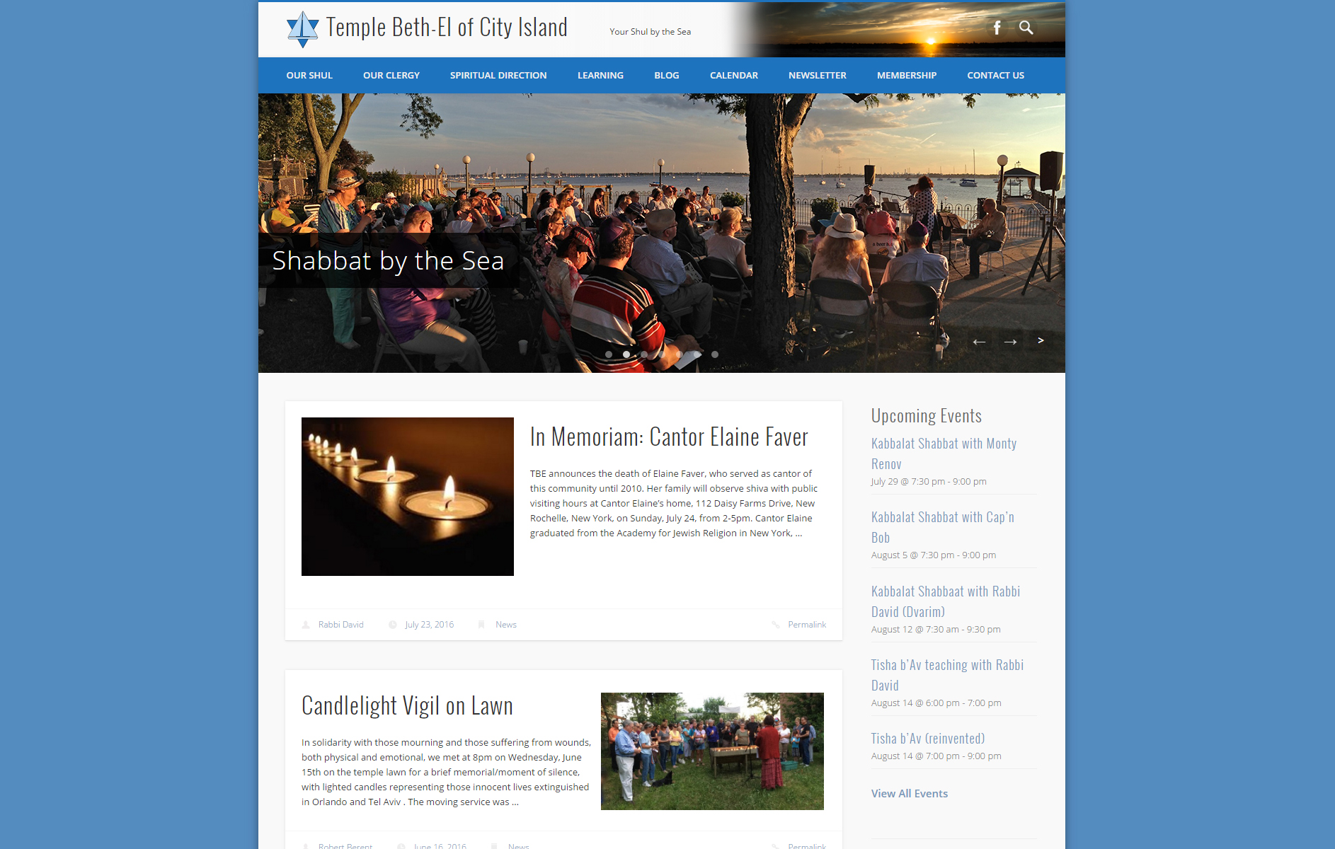 Temple Beth-El of City Island Web Design