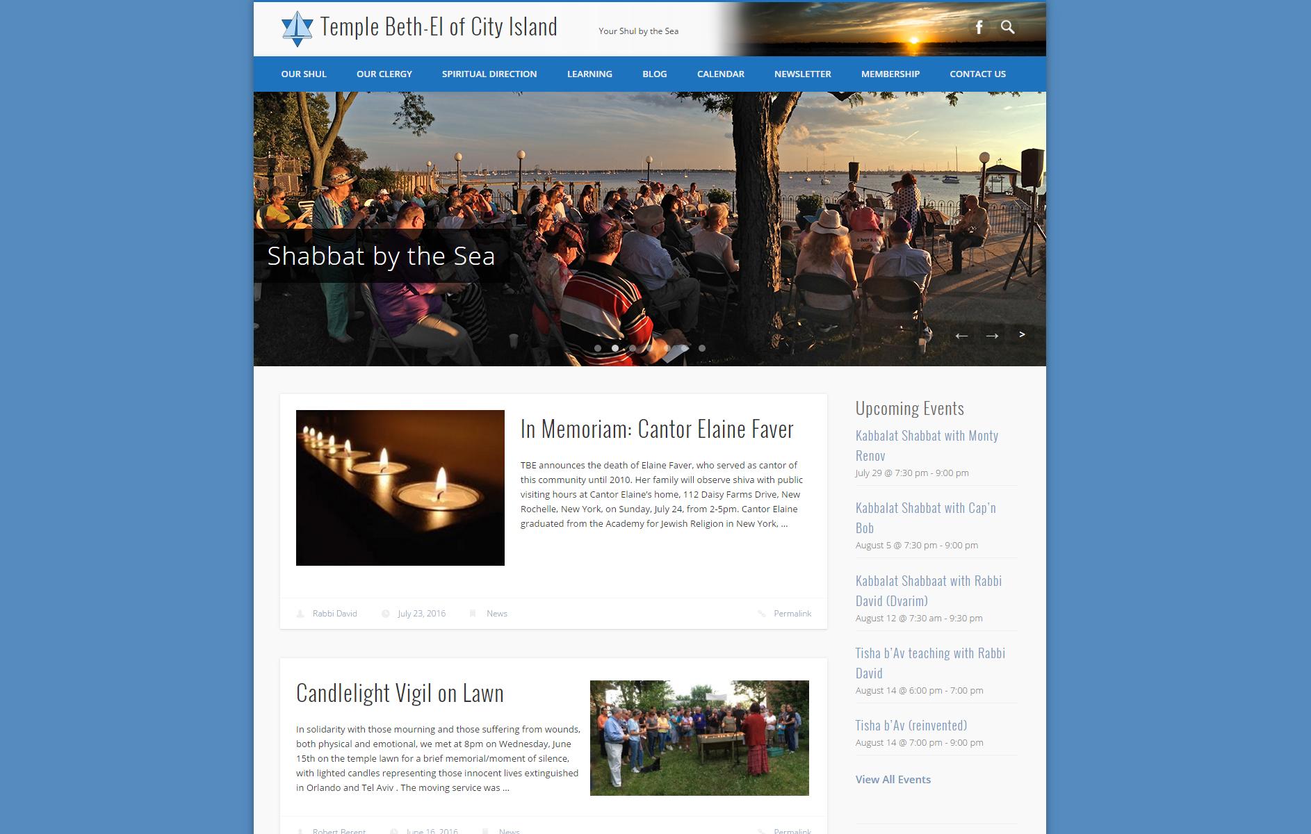 Temple Beth-El of City Island Web Design